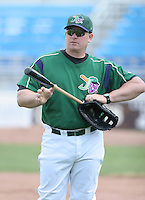 Darin Everson of the Jamestown Jammers, Class-A affiliate of the Florida Marlins, during New York-Penn League baseball action.  Photo by Mike Janes/Four Seam Images