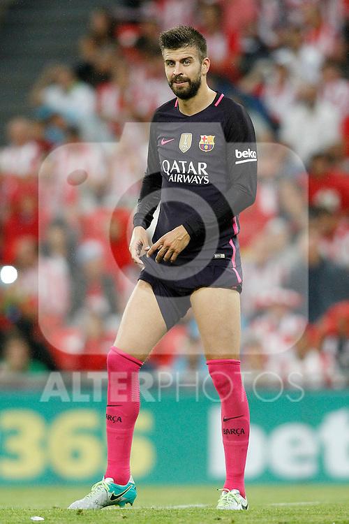 FC Barcelona's Gerard Pique during La Liga match. August 28,2016. (ALTERPHOTOS/Acero)