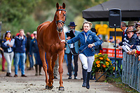 AUS-Samantha Birch presents Finduss PFB during the First Horse Inspection for the CCIO4*-L FEI Nations Cup Eventing. 2019 Military Boekelo-Enschede International Horse Trials. Wednesday 9 October. Copyright Photo: Libby Law Photography.