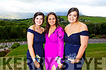 Isabel Horgan, Aoife Doyle and Aoife Dillane attending the Presentation Tralee Debs in the Ballyroe Hotel on Tuesday.