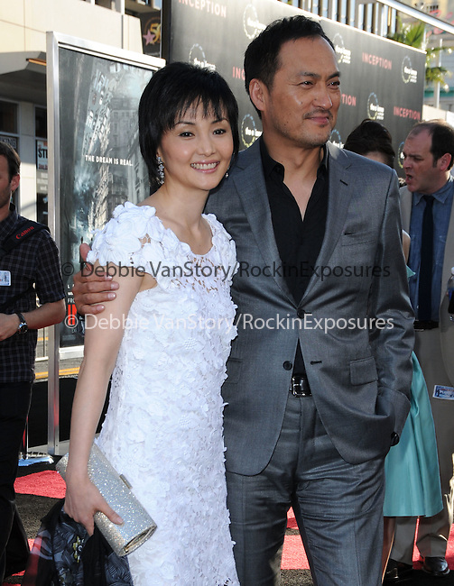 Ken Watanabe & wife at the Warner Bros. Premiere of Inception held at The Grauman's Chinese Theatre in Hollywood, California on July 13,2010                                                                               © 2010 Debbie VanStory / Hollywood Press Agency