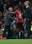 Jose Mourinho manager of Manchester United and Marcus Rashford of Manchester United during the English Premier League match at The Etihad Stadium, Manchester. Picture date: April 27th, 2016. Photo credit should read: Lynne Cameron/Sportimage