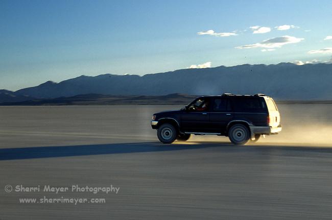 Crossing the playa in the Black Rock Desert