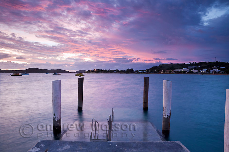 View from Engineers Wharf at dusk.  Thursday Island, Torres Strait Islands, Queensland, Australia