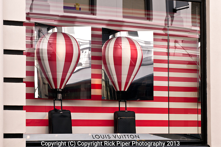 LV Hot Air Balloons 01 - Louis Vuitton shopfront display window, King Street, Perth, Western Australia.