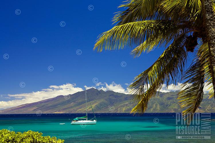 Kapalua, Maui with the island of Molokai in the distance.
