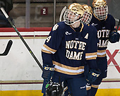 Luke Ripley (Notre Dame - 24), Felix Holmberg (Notre Dame - 12) - The Boston College Eagles defeated the University of Notre Dame Fighting Irish 6-4 (EN) on Saturday, January 28, 2017, at Kelley Rink in Conte Forum in Chestnut Hill, Massachusetts.The Boston College Eagles defeated the University of Notre Dame Fighting Irish 6-4 (EN) on Saturday, January 28, 2017, at Kelley Rink in Conte Forum in Chestnut Hill, Massachusetts.