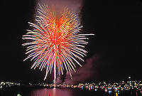 Fireworks, Night, Celebration, Display, Burst, festival, Colorful, over water, reflections