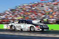 Sept. 22, 2013; Ennis, TX, USA: NHRA pro stock driver Vincent Nobile during the Fall Nationals at the Texas Motorplex. Mandatory Credit: Mark J. Rebilas-