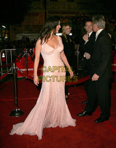 "CATHERINE ZETA-JONES.The Warner Brothers' World Premiere of ""Ocean's Twelve"" held at The Grauman's Chinese Theatre in Hollywood, California .December 8th,2 004.full length, pink dress, profile, sheer, jewel encrusted.www.capitalpictures.com.sales@capitalpictures.com.Supplied By Capital PIctures"