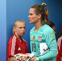 20190624 - REIMS , FRANCE : American Ashlyn Harris  pictured during the female soccer game between Spain and USA , a knock out game in the round of 16 during the FIFA Women's  World Championship in France 2019, Monday 24 th June 2019 at the Stade Auguste Delaune Stadium in Reims , France .  PHOTO SPORTPIX.BE | DIRK VUYLSTEKE