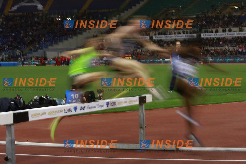 3000m Steeplechase Men  <br /> Roma 02-06-2016 Stadio Olimpico.<br /> IAAF Diamond League 2016<br /> Atletica Legera <br /> Golden Gala Meeting - Track and Field Athletics Meeting<br /> Foto Cesare Purini / Insidefoto