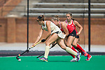 Kelsey Gill (15) of the Wake Forest Demon Deacons keeps the ball away from Kelsey Nolan (22) of the Ohio State Buckeyes during first half action at Kentner Stadium on September 10, 2017 in Winston-Salem, North Carolina.  The Demon Deacons defeated the Buckeyes 3-1.  (Brian Westerholt/Sports On Film)