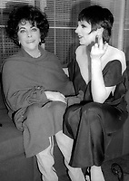Elizabeth Taylor Liza Minnelli 198<br /> Photo By Adam Scull/PHOTOlink.net