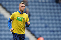 Preston North End's Jayden Stockley during the pre-match warm-up <br /> <br /> Photographer Kevin Barnes/CameraSport<br /> <br /> The EFL Sky Bet Championship - Preston North End v Barnsley - Saturday 5th October 2019 - Deepdale Stadium - Preston<br /> <br /> World Copyright © 2019 CameraSport. All rights reserved. 43 Linden Ave. Countesthorpe. Leicester. England. LE8 5PG - Tel: +44 (0) 116 277 4147 - admin@camerasport.com - www.camerasport.com