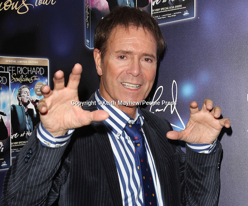 London - Cliff Richard at screening of new DVD 'The Soulicious Tour' at Odeon West End, London - November 15th 2011..Photo by Keith Mayhew.