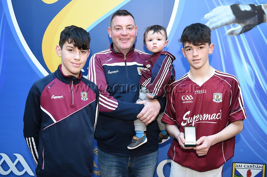 19/03/2018; 40x20 All Ireland Juvenile Championships Finals 2018; Kingscourt, Co Cavan;<br /> Mark Kearns, David Kearns, Darragh Kearns and Paul Kearns.<br /> Photo Credit: actionshots.ie/Tommy Grealy
