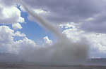 A tornado spins across the desert in Black Rock Nevada.