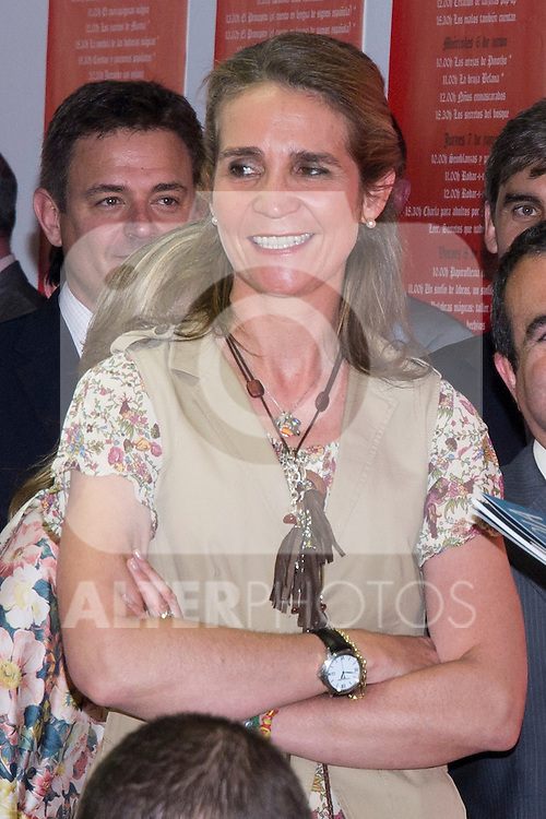 25.05.2012. Prince Felipe of Spain and Princess Letizia attend the inauguration of the Book Fair 2012 at the Retiro in Madrid. In the image Elena de Borbon (Alterphotos/Marta Gonzalez)