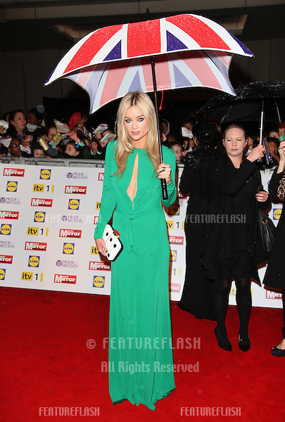Laura Whitmore arriving for the 2012 Pride of Britain Awards, at the Grosvenor House Hotel, London. 29/10/2012 Picture by: Alexandra Glen / Featureflash
