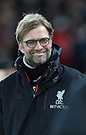 Jurgen Klopp manager of Liverpool  before the English Premier League match at Anfield Stadium, Liverpool. Picture date: December 31st, 2016. Photo credit should read: Lynne Cameron/Sportimage