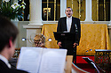 London, UK. 06.04.2013. Ensemble Serse present LUCIO PAPIRIO DITTATORE, as part of the Handel Festival, in the Grosvenor Chapel, Mayfair. Artistic Director, Calvin Wells, is one of very few male sopranos in the opera world. Picture shows: Calvin Wells. Photograph © Jane Hobson.