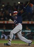 Jorge Carrillo, durante el juego de beisbol de segunda vuelta de la Liga Mexicana del Pacifico. Segundo partido entre Charros de Jalisco vs Naranjeros de Hermosillo. 16 Diciembre 2017.<br /> (Foto: Luis Gutierrez /NortePhoto.com)
