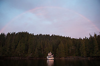 A rainbow lights up the sky above the Great Bear II.