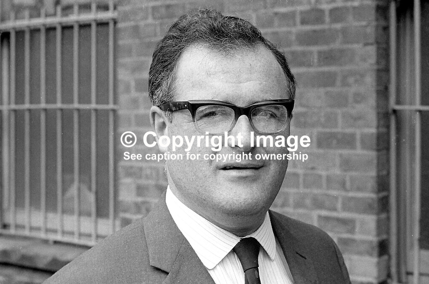 Brian McRoberts, Ulster Unionist, candidate, West Belfast, in 1970 UK General Election. Although he took 47.2% of the vote he was defeated by the Republican Labour candidate, Gerry Fitt. Mr McRoberts is a solicitor. 197005080167a<br />