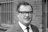 Brian McRoberts, Ulster Unionist, candidate, West Belfast, in 1970 UK General Election. Although he took 47.2% of the vote he was defeated by the Republican Labour candidate, Gerry Fitt. Mr McRoberts is a solicitor. 197005080167a<br /> <br /> Copyright Image from Victor Patterson,<br /> 54 Dorchester Park, <br /> Belfast, UK, BT9 6RJ<br /> <br /> t1: +44 28 9066 1296 (from Rep of Ireland 048 9066 1296)<br /> t2: +44 28 9002 2446 (from Rep of Ireland 048 9002 2446)<br /> <br /> m: +44 7802 353836<br /> <br /> e: victorpatterson@me.com<br /> www.victorpatterson.com<br /> <br /> Please see my Terms and Conditions of Use at www.victorpatterson.com. It is IMPORTANT that you familiarise yourself with them.<br /> <br /> Images used on the Internet must be visibly watermarked i.e. © Victor Patterson<br /> within the body of the image and copyright metadata must not be deleted. Images <br /> used on the Internet have a size restriction of 4kbs and will be chargeable at current<br />  NUJ rates unless agreed otherwise.<br /> <br /> This image is only available for the use of the download recipient i.e. television station, newspaper, magazine, book publisher, etc, and must not be passed on to any third <br /> party. It is also downloaded on condition that each and every usage is notified within 7 days to victorpatterson@me.com<br /> <br /> The right of Victor Patterson to be identified as the author is asserted in accordance with The Copyright Designs And Patents Act (1988). All moral rights are asserted.