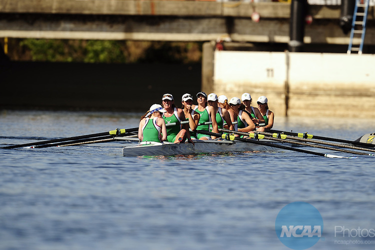 30 MAY 2010: The Mercyhurst team recovers after competing in the Eights Grand Final during the Division II Rowing Championship held at the Sacramento State Aquatic Center in Gold River, CA. Mercyhurst finished in first place with a time of 6:42.53. Jose Luis Villegas/NCAA Photos