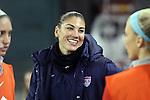 20 October 2014: Hope Solo (USA). The United States Women's National Team played the Haiti Women's National Team at RFK Memorial Stadium in Washington, DC in a 2014 CONCACAF Women's Championship Group A game, which serves as a qualifying tournament for the 2015 FIFA Women's World Cup in Canada. The U.S. won the game 6-0.