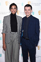 Ella Balinska and Asa Butterfield<br /> at the announcement of nominations for the BAFTA Film Awards 2020, London.<br /> <br /> ©Ash Knotek  D3546 07/01/2020