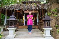 Thailand, Mae Hong Son. Fern Resort in Namtok Mae Surin National Park.