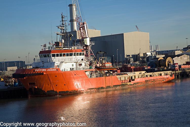 Putford Jaguar North Sea supply vessel, River Yare, Great Yarmouth