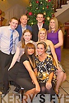 Helen Horan, Tara O'Connor, Sheree Yeates, Catriona Reen, Adam Waterworth, John Kissane, Jason Newby and Carline McEneaney, Lifestyle, Killarney,enjoying their Christmas party night in the International hotel on Saturday night.   Copyright Kerry's Eye 2008