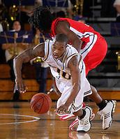 Florida International University Golden Panthers (11-15, 6-10 SBC) versus the University of Louisiana-Lafayette Ragin' Cajuns (9-18, 7-9 SBC) at Pharmed Arena, Miami, Florida on Thursday, February 22, 2007.  The Golden Panthers defeated the Ragin' Cajuns, 71-68...Junior guard Michael James (3)