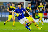 11th January 2020; King Power Stadium, Leicester, Midlands, England; English Premier League Football, Leicester City versus Southampton; Caglar Soyuncu of Leicester City on the ball - Strictly Editorial Use Only. No use with unauthorized audio, video, data, fixture lists, club/league logos or 'live' services. Online in-match use limited to 120 images, no video emulation. No use in betting, games or single club/league/player publications