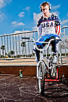 Connor Fields keeping loose before his next run at the US Olympic Training Center in Chula Vista, CA