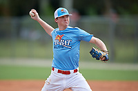 Kyler Heyne (10) during the WWBA World Championship at the Roger Dean Complex on October 11, 2019 in Jupiter, Florida.  Kyler Heyne attends Reedy High School in Frisco, TX and is committed to Howard College.  (Mike Janes/Four Seam Images)