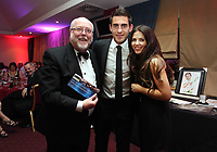 Pictured: Eirian Wynn (L). Wednesday 10 April 2013<br /> Re: Swansea footballer Angel Rangel and wife Nicky's cancer charity fundraising dinner at the Liberty Stadium.