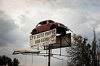Ohio, Usa. Oktober 2016. Et bruktbilutsalg i Portsmouth. Fotografier til dokument om valget i Usa og Appalachene. Foto: Christopher Olssøn