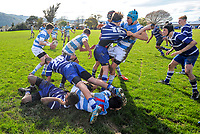 Action from the Weltec Wellington Secondary Schools Under-15 rugby final between St Patrick's College Silverstream and St Patrick's College Town at Silverstream College in Upper Hutt, New Zealand on Saturday, 19 August 2017. Photo: Dave Lintott / lintottphoto.co.nz