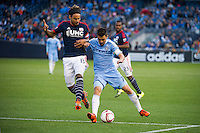 BRONX, NY - Sunday, October 25, 2015: New York City FC loses 1-3 to the New England Revolution at home at Yankee Stadium during the 2015 MLS regular season.