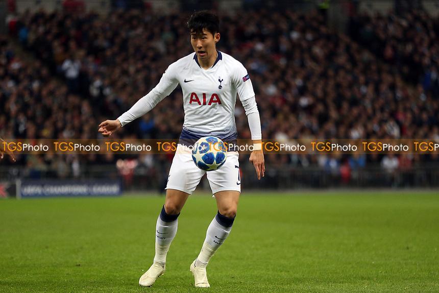 Son Heung-Min of Tottenham Hotspur during Tottenham Hotspur vs PSV Eindhoven, UEFA Champions League Football at Wembley Stadium on 6th November 2018