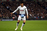 Son Heung-Min of Tottenham Hotspur during Tottenham Hotspur vs PSV Eindhoven, UEFA Champions League Football at Wembley Stadium on 6th November 2018