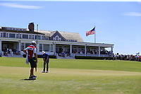 Zach Johnson (USA) putts on the 9th green during Saturday's Round 3 of the 118th U.S. Open Championship 2018, held at Shinnecock Hills Club, Southampton, New Jersey, USA. 16th June 2018.<br /> Picture: Eoin Clarke | Golffile<br /> <br /> <br /> All photos usage must carry mandatory copyright credit (&copy; Golffile | Eoin Clarke)