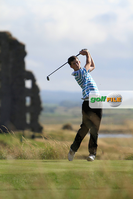 Ryan McKinstry (Cairndhu) on the 13th tee during the South of Ireland Amateur Open Championship Second Round at Lehinch Golf Club  28th July 2013 <br /> Picture:  Thos Caffrey / www.golffile.ie
