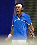 Tenis, Gemax Open 2009, Challanger.Filip Krajinovic Vs. Lukas Rosol (Czech).Filip Krajinovic.Beograd, 17.02.2009. .Photo: © Srdjan Stevanovic/Starsportphoto.com