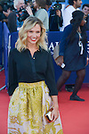 Lilou Fogli attends the red carpet during the 41st Deauville American Film Festival on September 6, 2015 in Deauville, France